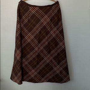 Long brown skirt
